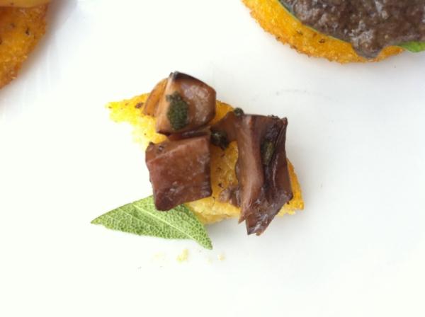 crispy polenta and mushroom