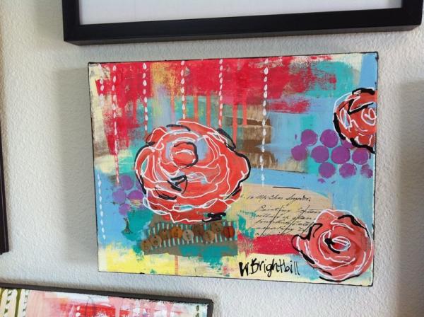 beautiful mixed media painting original