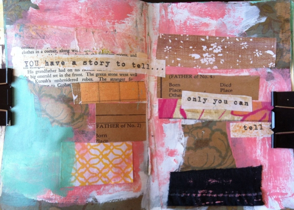 art journal challenge